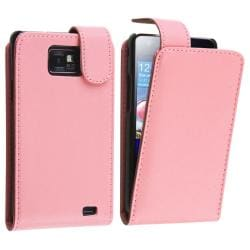 Pink Leather Case for Samsung Galaxy S II i9100