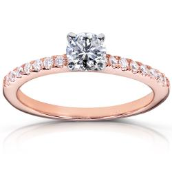 14k Rose Gold 5/8ct TDW Diamond Engagement Ring