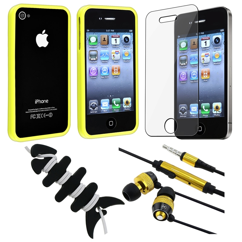 BasAcc Bumper Case/ Protector/ Headset/ Wrap for Apple iPhone 4/ 4S