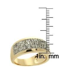 14k Yellow Gold over Silver 1/4ct TDW Diamond Band (I-J, I2-I3)