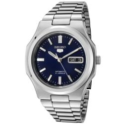 Seiko Men's 'Seiko 5' Blue Dial Stainless Steel Automatic Watch