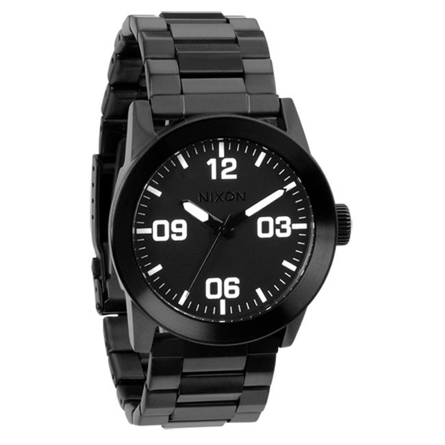 Nixon Men's 'Private' Black Stainless Steel Watch