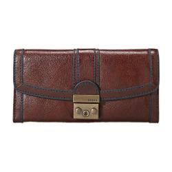Fossil Women's 'Vintage Re-issue' Brown Leather Tri-fold Clutch
