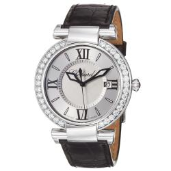 Chopard Women&#39;s &#39;Imperiale&#39; Silver Dial Black Leather Strap Watch