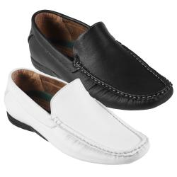 Oxford and Finch Men's Topstitched Leather Loafers