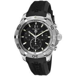 Tag Heuer Men's '2000 Aquarac' Black Dial Black Strap Quartz Watch