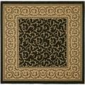 Black/ Natural Indoor Outdoor Rug (6'7 Square)