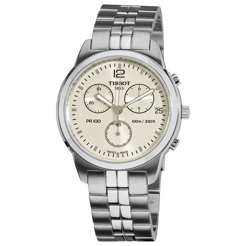 Tissot Men's T0494171103700 PR100 Round Silvertone Bracelet Watch