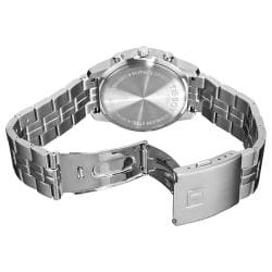 Tissot Men's 'PRC 100' Silver Chronograph Dial Quartz Watch