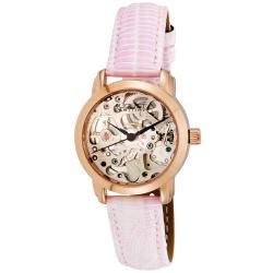 August Steiner Women's Skeleton Automatic Strap Watch