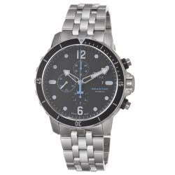 Tissot Men's 'Seastar' Black Dial Stainless Steel Bracelet Watch