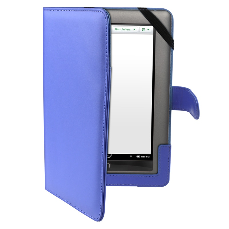 Blue Synthetic-leather/Suede Case for Barnes & Noble Nook Color