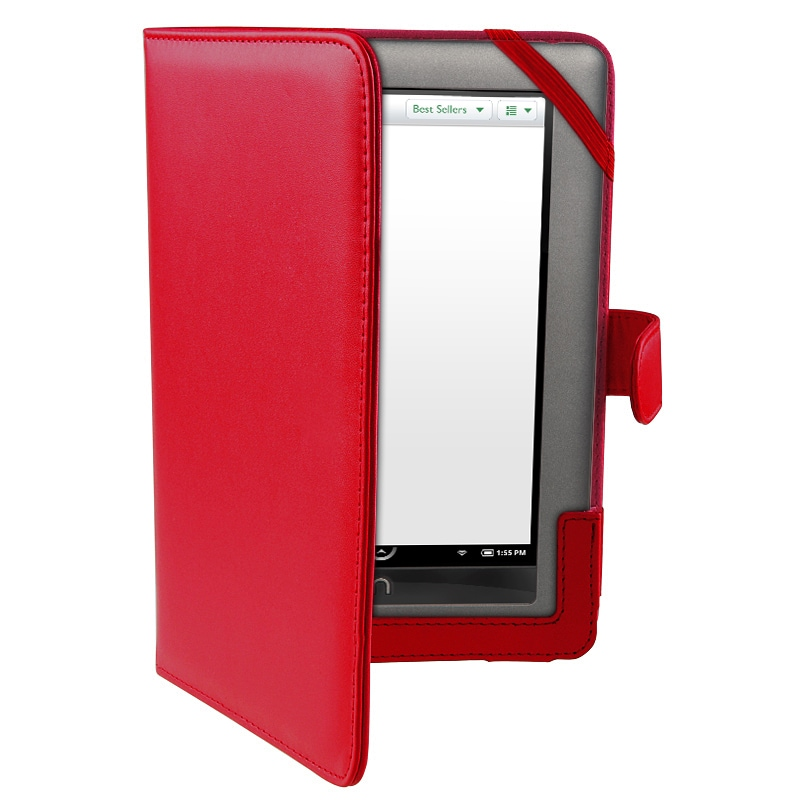 Red Leather Case for Barnes & Noble Nook Color