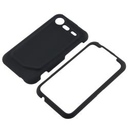 Black Case/ LCD Protector/ Car Charger/ Cable for HTC Droid Incredible
