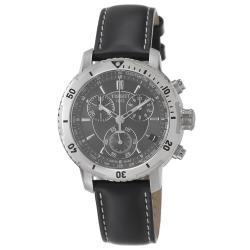 Tissot Men's 'PRS 200' Black Chronograph Dial Black Strap Watch