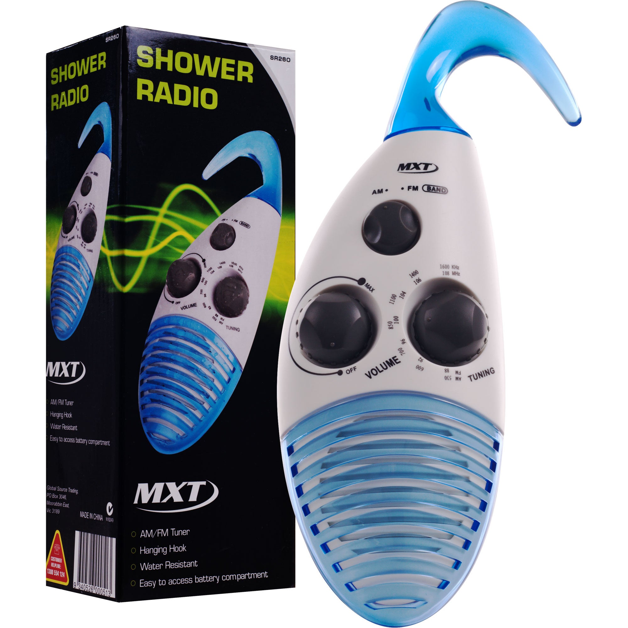 Remedy AM/ FM Shower Radio