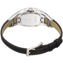 Ebel Women's 'Moonchic' Black Diamond Dial Black Satin Strap Watch