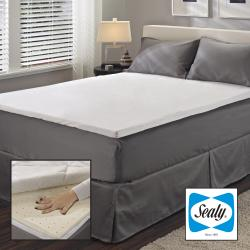Sealy 2-inch Queen/ King/ Cal King-size Latex Mattress Topper with Protective Zippered Cover Set
