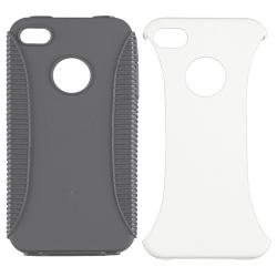 Smoke TPU/ White Hard Hybrid Case for Apple iPhone 4/ 4S