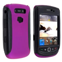 Black TPU/ Purple Hard Hybrid case for BlackBerry Torch 9800/ 9810