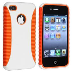 Orange TPU/ White Hard Hybrid Case for Apple iPhone 4/ 4S
