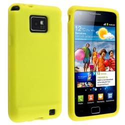 Yellow Silicone Skin Case for Samsung Galaxy S II i9100