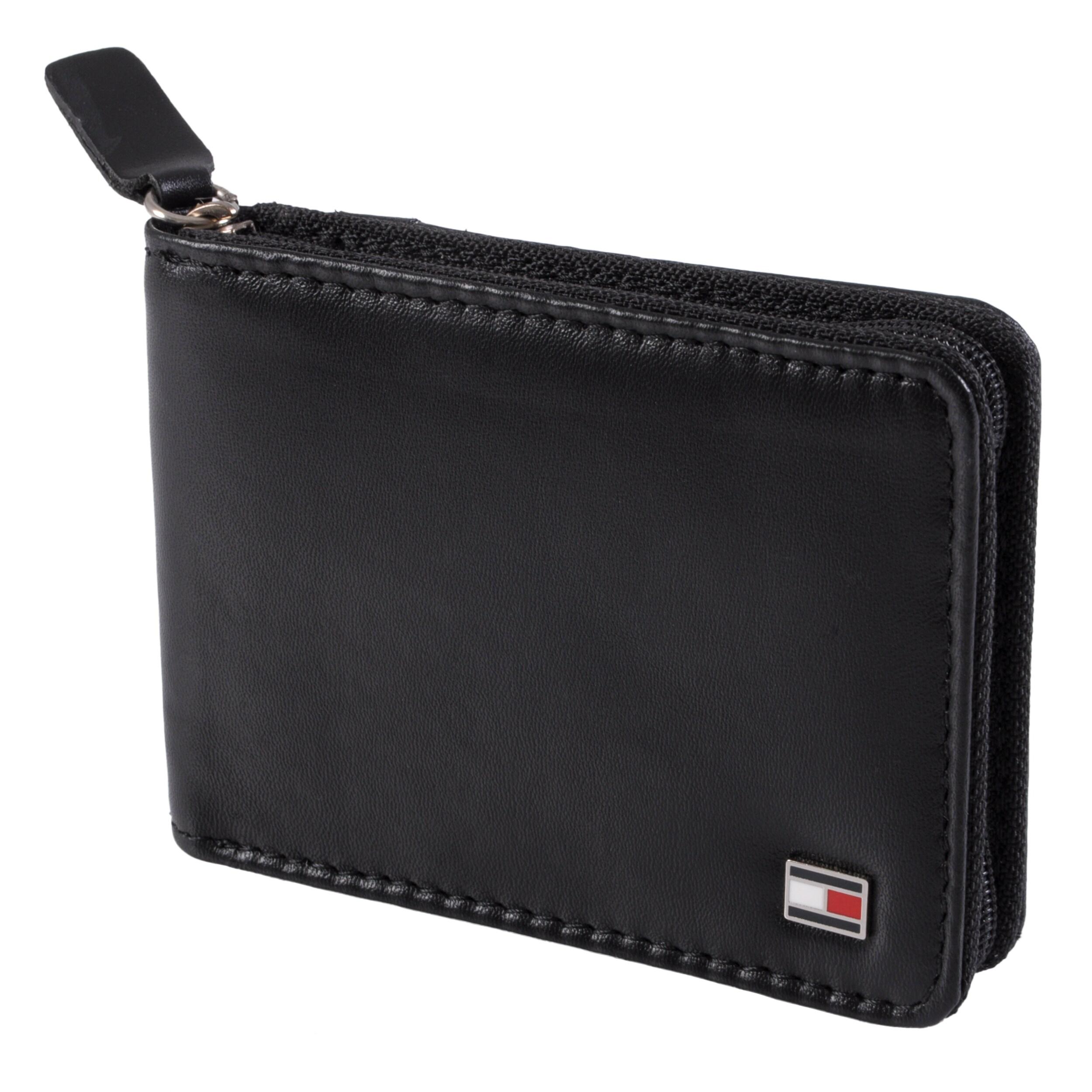 Tommy Hilfiger Men's Genuine Leather Slim Zip-A-Round Wallet