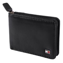 Tommy Hilfiger Men's Genuine Leather Slim Zip-A-Round Wallet