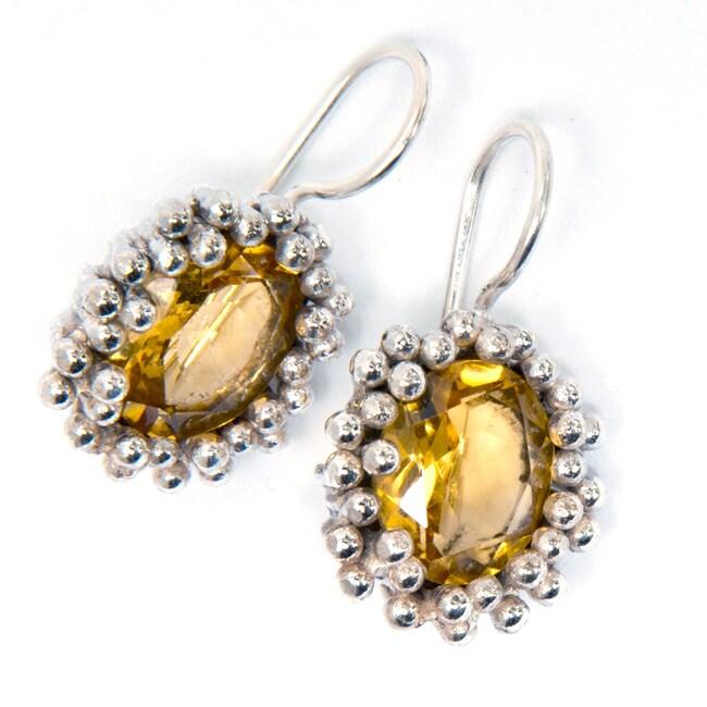 Sterling Silver Citrine Earrings (India)