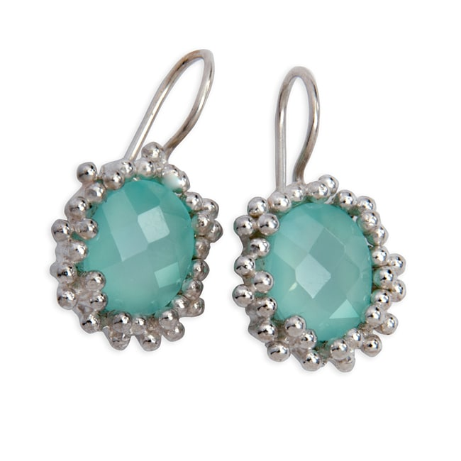 Sterling Silver Chalcedony Earrings (India)