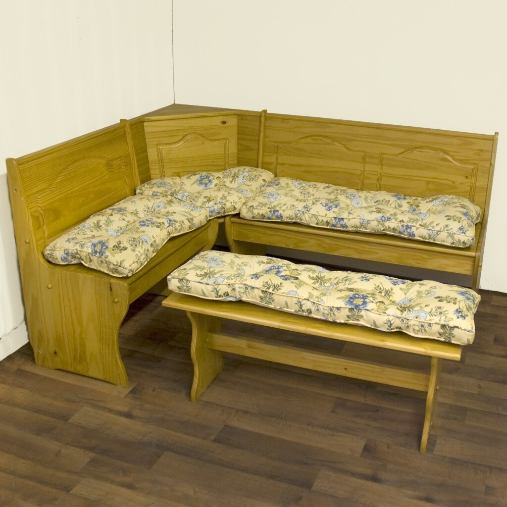 Cotton Yellow Floral 4-piece Nook Cushion Set