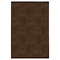Tiger Patch Mink Brown Rug (8' x 10')