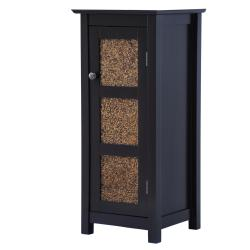 Fifth Avenue Espresso/ Amber Glass Door Cabinet