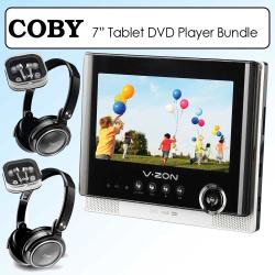 Coby 7-inch Portable Tablet Style DVD Player Kit