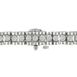 Miadora 10k White Gold 3/4ct TDW Diamond Tennis Bracelet (H-I, I2-I3)