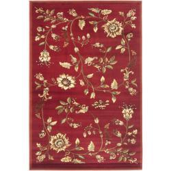 Lyndhurst Zen Gardens Red Rug (4' x 6')