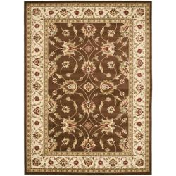 Lyndhurst Traditions Brown/ Ivory Rug (9' x 12')