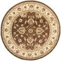 Lyndhurst Traditions Brown/ Ivory Rug (5'3 Round)