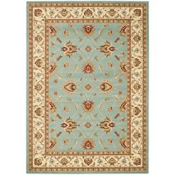 Lyndhurst Traditions Blue/ Ivory Rug (9' x 12')