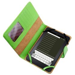 Green Leather Case for Amazon Kindle Fire