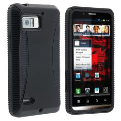 Black TPU/ Black Hard Hybrid Case for Motorola Droid Bionic XT875