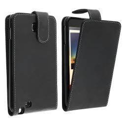 Black Leather Case for Samsung Galaxy Note N7000