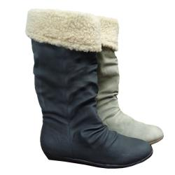 Tabeez Women's Slouchy Faux Shearling Lined Boot