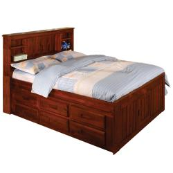 Merlot Bookcase 6-drawer Full-size Bed