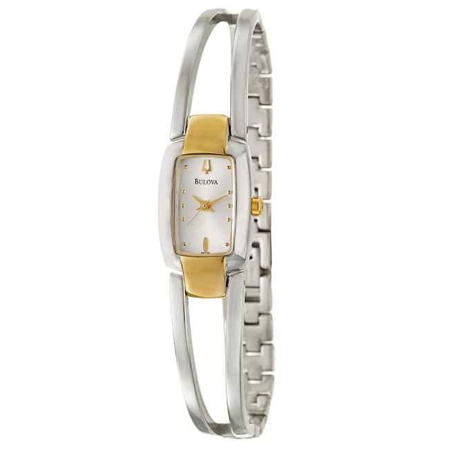Bulova Women's 'Bracelet' Stainless Steel Goldplated Quartz Watch