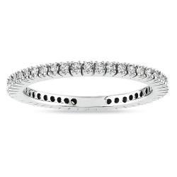 14k White Gold 1/3ct TDW Diamond Eternity Ring (G-H, I1-I2)