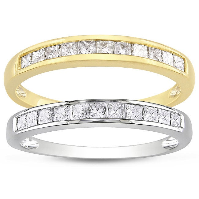 Miadora 14k Gold 1/2ct TDW Princess Diamond Ring (G-H, I1-I2)