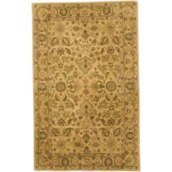 Hand-tufted Tan Anterior Wool Rug (5' x 8')