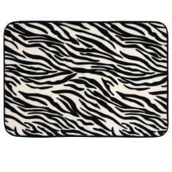 Zebra Print Memory Foam 20 x 32 Bath Mat