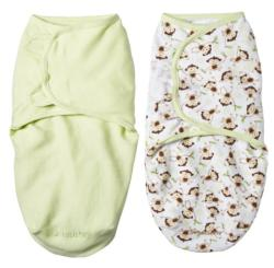 Summer Infant Small Monkey Vine & Sage SwaddleMe Blankets (Pack of 2)